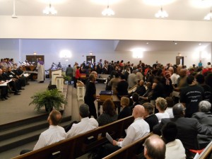The free-will offering at the 2013 MLK Interfaith Memorial Service. Thank you to our donors and thank you to our host, Metropolitan NT Mission Baptist Church!
